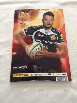 Rugby Union Programmes exeter v wasps 2014