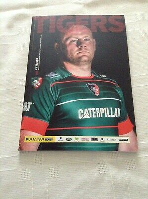 Rugby Union Programmes Leicester Tigers V Wasps 29/11/2014