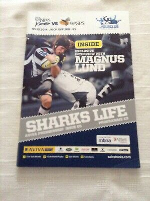 Rugby Union Programmes sharks v wasps 2014