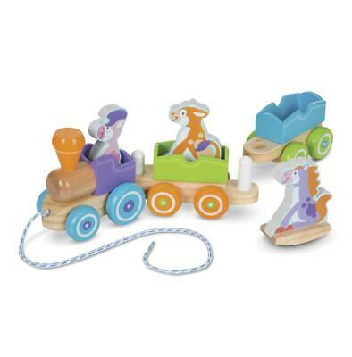 First Play - Rocking Farm Animals Pull Train - Melissa & Doug Free Shipping!
