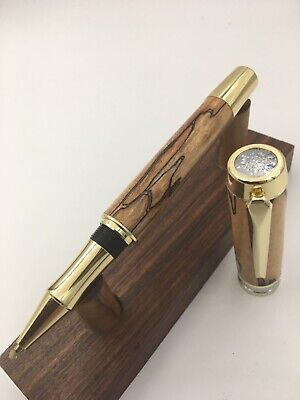 Beautiful Handmade Large Executive Rollerball Pen with Spalted Maple.