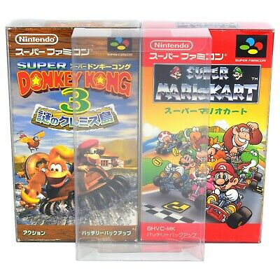 10 x GP16 Super Famicom Game Box Protectors 0.4mm PET Plastic Display Case