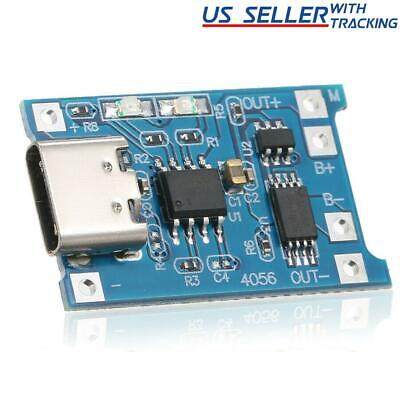 10pcs TP4056 5V 1A USB Type-C USB-C Lithium Battery Charging & Protection Board