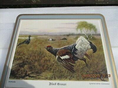 Pimpernel Place Mats Game Birds Boxed