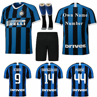19/20 Football Soccer Suits Jersey Blue Home Kids Adults Training Outfits+Socks
