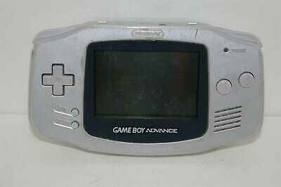 Nintendo Game Boy Advance Silver Handheld Console GBA PLEASE READ TESTED