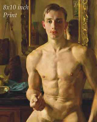 The Boxer by Konstantin Somov - Young Man Nude Fighter 8x10 Print 2762