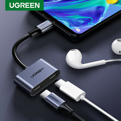 Ugreen Type C to Dual USB C Earphone Audio Splitter PD3.0 Max 15W Charging Cable