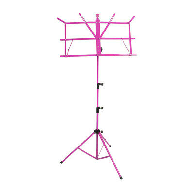 Metal Durable Height Adjustable Sheet Music Stand Folding Foldable Rosy