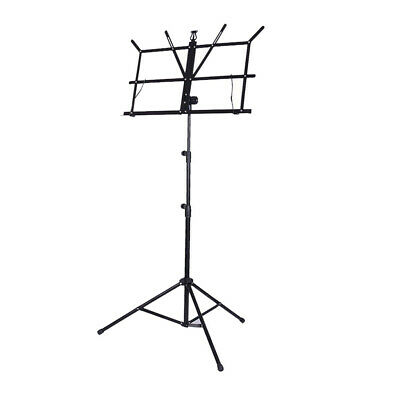 High Quality Sheet Music Metal Stand Holder Folding Foldable with Bag Black