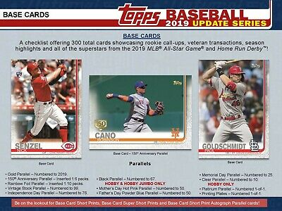 2019 Topps Update - Complete Master Set - 300 Base + All Hobby Inserts - Presell