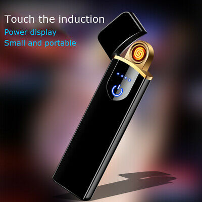 Electric Lighter Usb Rechargable Windproof Finger Print Gentle Touch  Ku