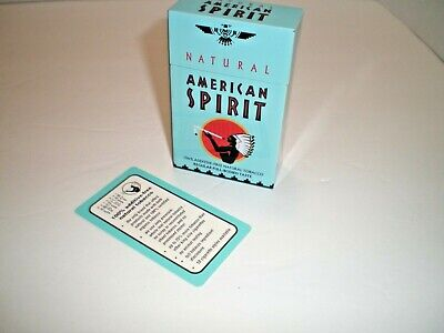 Natural American Spirit EMPTY Cigarette Tin, BLUE FLIP. NOS, with card, W@W!!