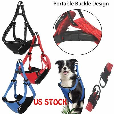 Adjustable Soft Service Dog Walking Harness Pet Reflective Collar No-Pull Vests