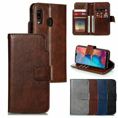 Leather Case For Samsung A20e A40 A50 A70 Flip Card Wallet Business Phone Cover