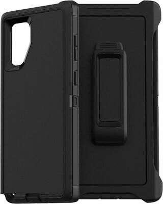 For Samsung Galaxy Note10 & 10+ Plus Defender Case With(Belt Clip Fits Otterbox)