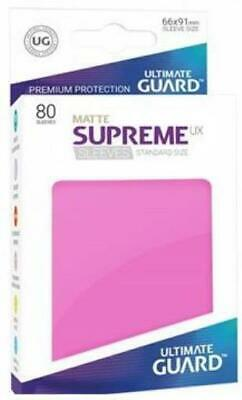 Ultimate Guard Standard Sleeves Supreme UX - Matte Pink (10 Packs of 80) MINT