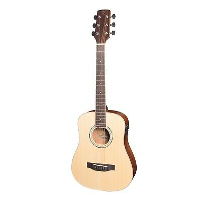 NEW Timberidge Left Handed Travel Mini Solid Spruce Top Acoustic-Electric Guitar