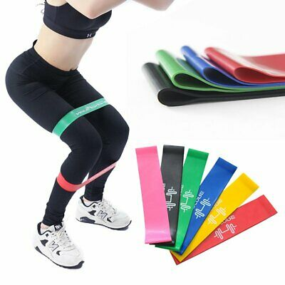 6pcs Resistance Bands Loop Mini Band Exercise Crossfit Strength Fitness GYM
