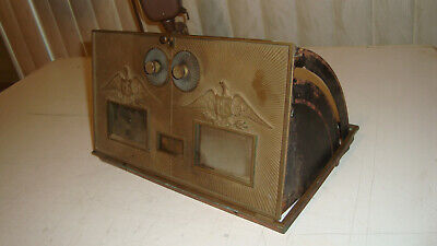 Works Complete Vintage LARGE CORBIN BRASS POST OFFICE MAIL BOX DOUBLE EAGLE DOOR