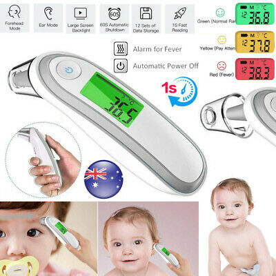 Digital IR Infrared Body Forehead Thermometer Kid Baby Fever Temperature Probe