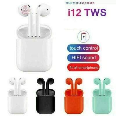 i12 TWS Bluetooth 5.0 Earbuds Wireless Smart Touch Control Headset Headphone