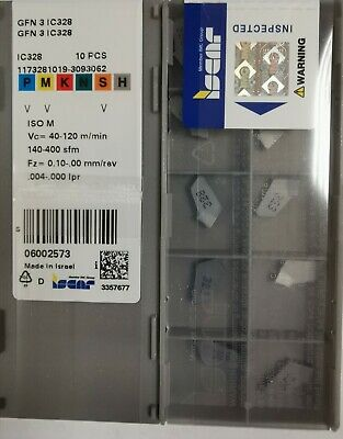 GFN 3 IC328 Iscar   Carbide Inserts The listing is for 1 box