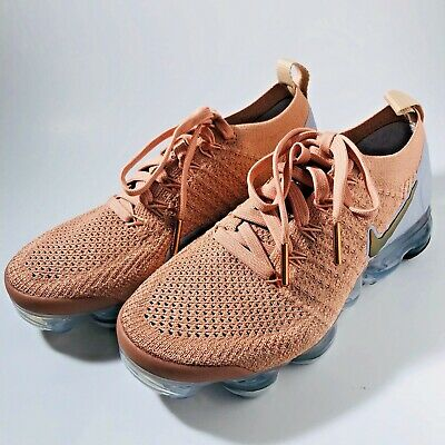 Details about Nike Wmns Nike Air Vapormax Flyknit 2 Rose Gold Women Running Shoes 942843 602