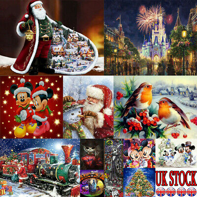 UK Xmas Christmas Full Drill 5D Diamond Painting Cross Craft Arts Hallowee Gifts