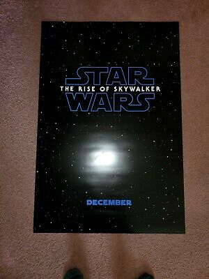 STAR WARS 9 Rise of Skywalker Original DS Movie Poster 27x40 double sided MINT