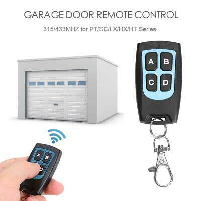 Replacement Garage Door Car Gate Cloning Remote Control Key Fob 315MHz 433MHz