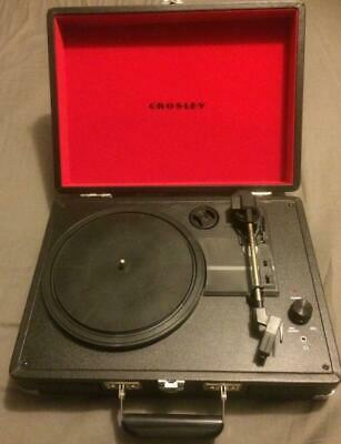 Briefcase Record Player Vintage Vinyl headphones Turntable ( no clock radio usb