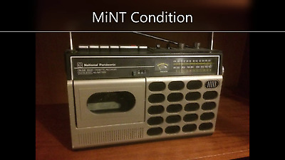 Vintage Cassette Tape Recorder player Radio speaker electronic Battery operated