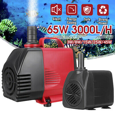 65W Water Pump Feature Fountain Outdoor Garden Fish Pond Completely Submersible