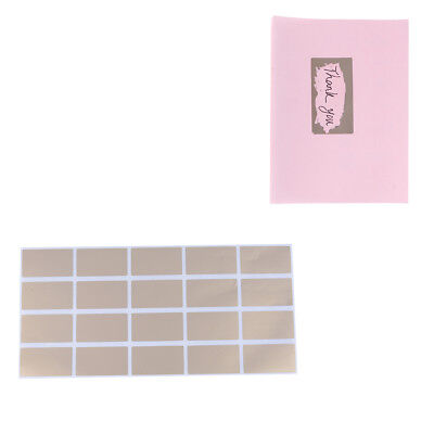 20Pcs sheet gold adhesive labels stickers rectangle games cards tickets