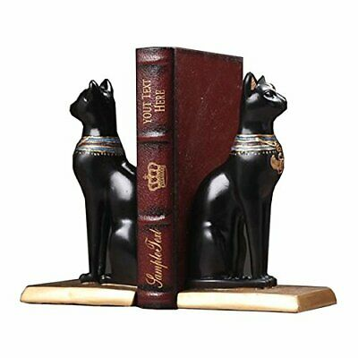 C & S Bookends Decorative, Ancient Egyptian Bastet Cat Goddess Book Ends