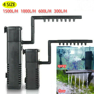 UK Fish Tank Internal Aquarium Filter Submersible with Spray Bar For Hidom B8K9U