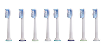 8pcs Replacement Brush Heads Fit Philips Sonicare 2 Series DiamondClean HX6054