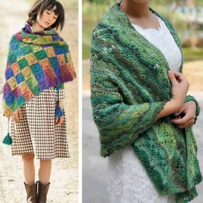 Scarve DIY Cashmere Hand-woven Wool Blend Yarn Knitting Rainbow Colorful