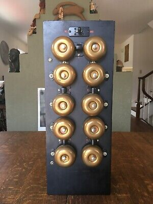 VINTAGE APARTMENT BUILDING TRANSFORMER w/ 10 BRASS BELLS and 5 CONFIGURATIONS
