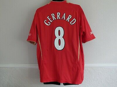 Liverpool 2005 - 06 Champions League Football Euro Home Shirt Gerrard 8 ,Mens Xl