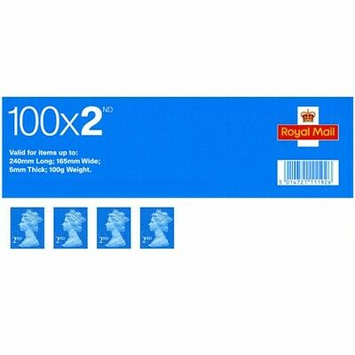 Book Of 100 x 2nd Class Stamps. Brand New.