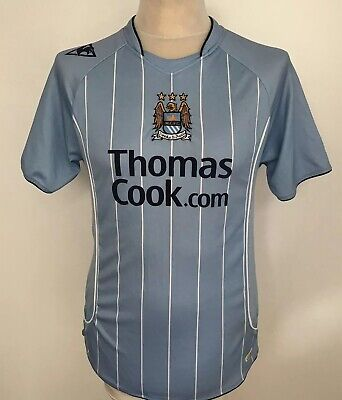 MANCHESTER CITY Football Shirt 2007/08 Home LE COQ SPORTIF Small Thomas Cook