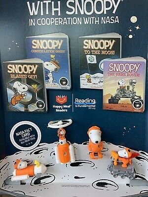 2019 MCDONALD'S PEANUTS NASA TOYS COMPLETE SET OF 8 Sealed McDonalds Snoopy