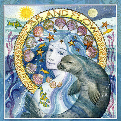 PAGAN WICCAN GREETING CARDS Ebb & Flow GODDESS BLANK CELTIC WENDY ANDREW