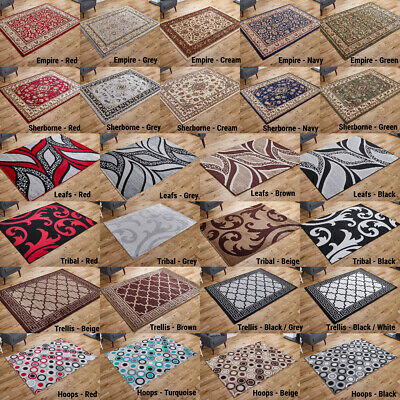 Small Extra Large Traditional Modern Quality Beige Silver Area Rugs Runner Mat