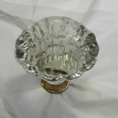Very Large Hand Cut Glass Totally Faceted Knobs