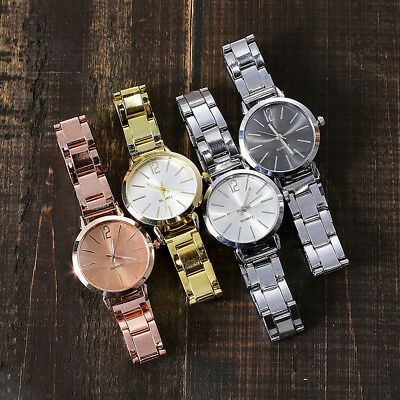 Women Casual Stainless Steel Marble Strap Watch Ladies Analog Wrist Watches ST