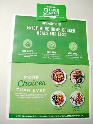 2 Hello Fresh America's #1 Meal Kit $80 & 50% Off Gift Cards Free Ship Eligible
