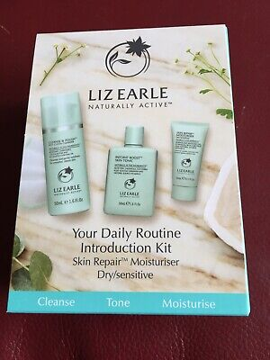 Liz Earle Daily Routine Kit with Skin Repair Moisturiser – Dry/sensitive